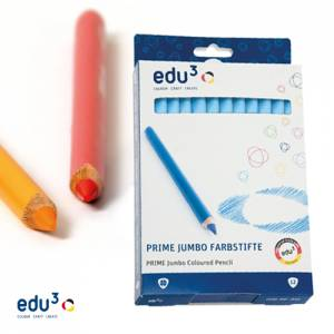 edu3 Prime Jumbo dreiflächig | 12 Buntstifte einer Farbe