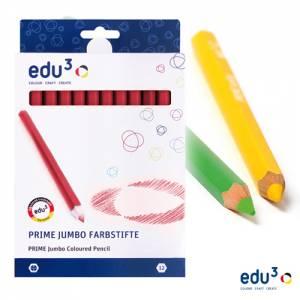 edu3 Prime Jumbo hexagonal | 12 Buntstifte einer Farbe