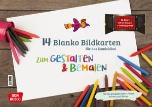 Kamishibai - 14 Blanko Bildkarten zum Gestalten und Bemalen