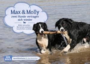 Kamishibai - Max und Molly | Zwei Hunde vertragen sich wieder