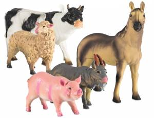 Softtiere XXL 5er Set - Bauernhoftiere