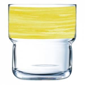 Geschirrserie Brush Gelb - Stapelglas 220 ml