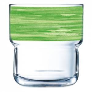 Geschirrserie Brush Grün - Stapelglas 220 ml