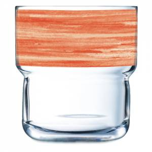 Geschirrserie Brush Orange - Stapelglas 220 ml