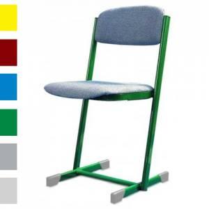 Lehrerstuhl mit gepolsterter Sitz- und  Rückenlehne
