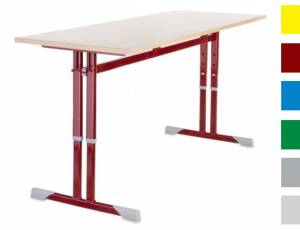 Schülerkufentisch 130 x 50 cm (Doppelplatz höhenverstellbar)