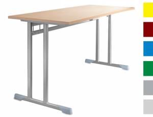 Schülerkufentisch 130 x 50 cm (Doppelplatz)