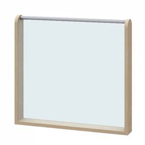Raumteiler Acryglaswand doppelt | Höhe 60 cm