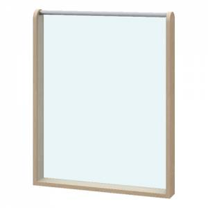 Raumteiler Acryglaswand doppelt | Höhe 80 cm