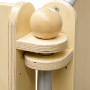 Raumteiler Verbinder mit flexiblem Winkel | Mit Metallstab