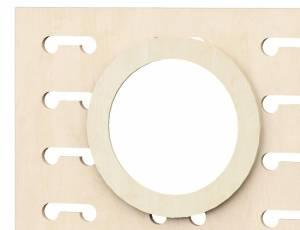 Raumteiler Rasterwand | Zubehör Rundspiegel Ø 40 cm