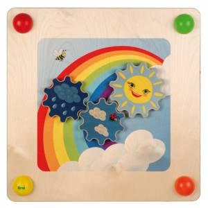 Babypfad Regenbogen | Raumteiler und Wandspiel U3