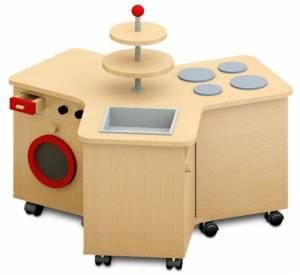 Kinderküche - Küchenrondell mit Waschmaschine