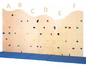 Climbing for Kids | Kletterwand natur, 6-teilig