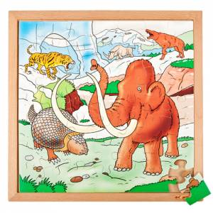 Holzpuzzle Eiszeit | 40 x 40 cm