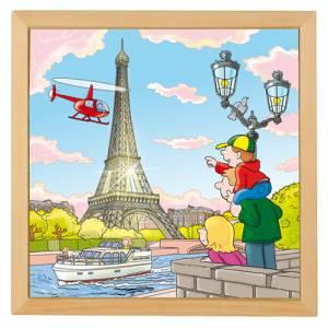 Holzpuzzle Europäische Städte - Paris | 40 x 40 cm