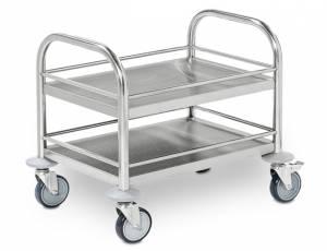 Servierwagen aus Edelstahl - Mini