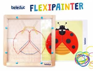 Flexipainter - Kreatives Gestalten mit Gummibändern, 34-teilig