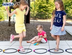 Hüpf- & Wurfspiel - Jump & Throw, 13-teilig