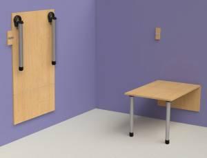 Wandklapptisch 120 x 60 cm | Komplett-Set