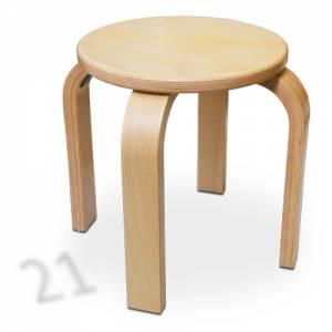 Stapelhocker Rund - Buche Multiplex | Sitzhöhe 21 cm