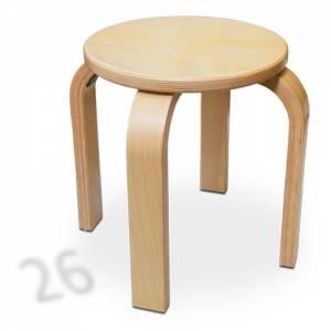Stapelhocker Rund - Buche Multiplex | Sitzhöhe 26 cm
