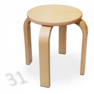 Stapelhocker Rund - Buche Multiplex | Sitzhöhe 31 cm