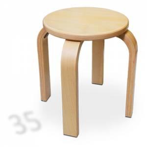 Stapelhocker Rund - Buche Multiplex | Sitzhöhe 35 cm