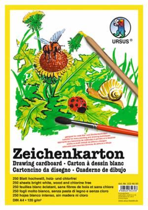Zeichenkarton Weiß | DIN A4 mit 250 Blatt