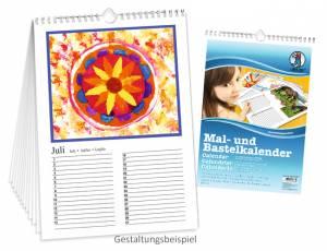 Dauerkalender DIN A4 Weiß