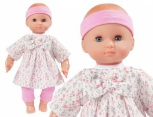 Babypuppe 40 cm - Blümchenkleid