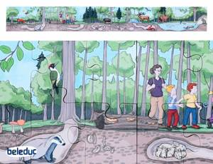 Bodenpuzzle Wald | 40-teilig