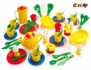 Kinderküche - Dantoy Frühstücksservice | Kiga Set 72 Teile