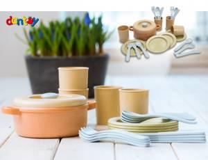 Dantoy BIOplastic Sandspielzeug | Kinderküche Kochset 22 Teile