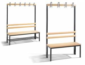 Garderobenbank einseitig | Sitzhöhe 34 cm