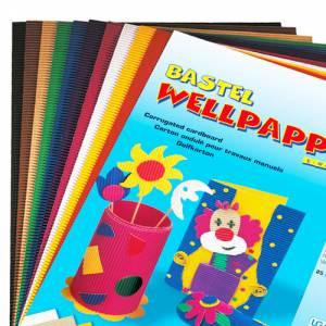 Wellpappe 50 x 70 cm - 10 Bogen in 10 Farben