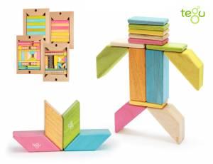 Tegu Magnetische Holzbausteine Farbig | 90 Teile