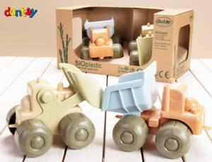 Dantoy BIOplastic Sandspielzeug | Radlader & Truck Set