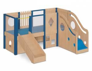 Spielhaus Podesthöhe 70 cm - Spielburg Kimi