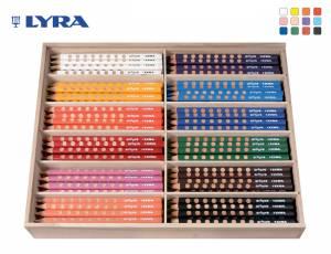 Lyra Groove Natural Grip | Holzbox mit 144 Stiften
