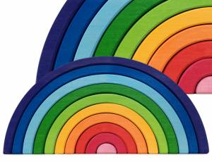 Bausteine Regenbogen 49 cm, 10-teilig | Riesen Regenbogen