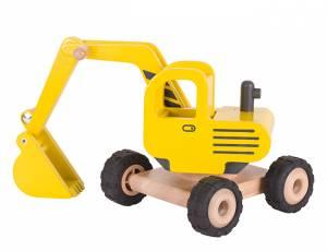 Baufahrzeuge mit Gummibereifung | Bagger