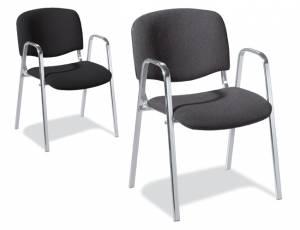 Besucherstuhl KITA mit Armlehnen | Sitzhöhe 47,5 cm