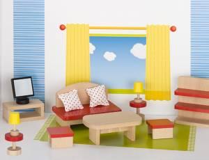 Puppenhaus Möbelset basic - Wohnzimmer | 13 Teile