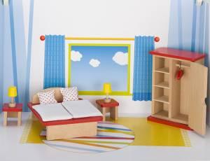 Puppenhaus-Möbelset basic | Schlafzimmer 11-teilig