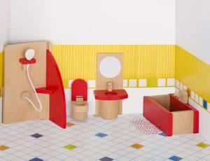 Puppenhaus-Möbelset basic | Badezimmer 5-teilig
