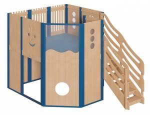 Spielhaus Podesthöhe 140 cm - Spielburg Lisbeth
