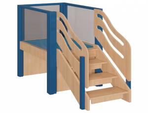 Spielhaus Podesthöhe 70 cm - Spielburg Luisa