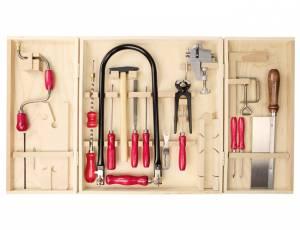 Werkzeugschrank | Qualitäts-Laubsägeschrank Öko mit 26 Teilen