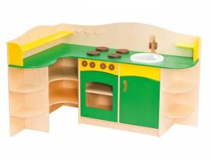 Spielküche   Eckküche Grün/Gelb